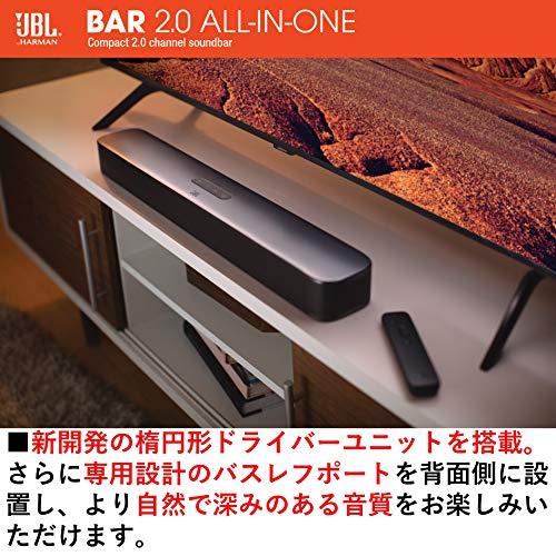 JBLBAR2.0ALLINONE2.0chバスレフポート搭載ホームシアター/サウンドバーBluetooth/HDMI/ARC対応ブラックJBLBAR20AIOBLKJN【国内正規品/メーカー1年保証付き】