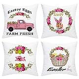 BLEUM CADE Easter Throw Pillow Cover Easter...