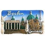 Imán de resina para nevera Berlín Alemania Europa 3d fuerte recuerdo turista regalo chino imán hecho a mano creativo hogar y cocina decoración magnética