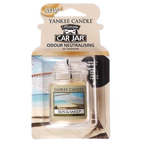 YANKEE CANDLE Ultimate Car Jar Profumatore per Auto, Sun & Sand
