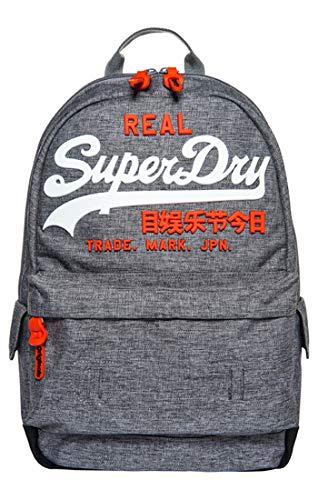 Superdry - Premium Goods Backpack, Hombre, Gris (Grey Marl), 15x45x34 cm (W x H L)