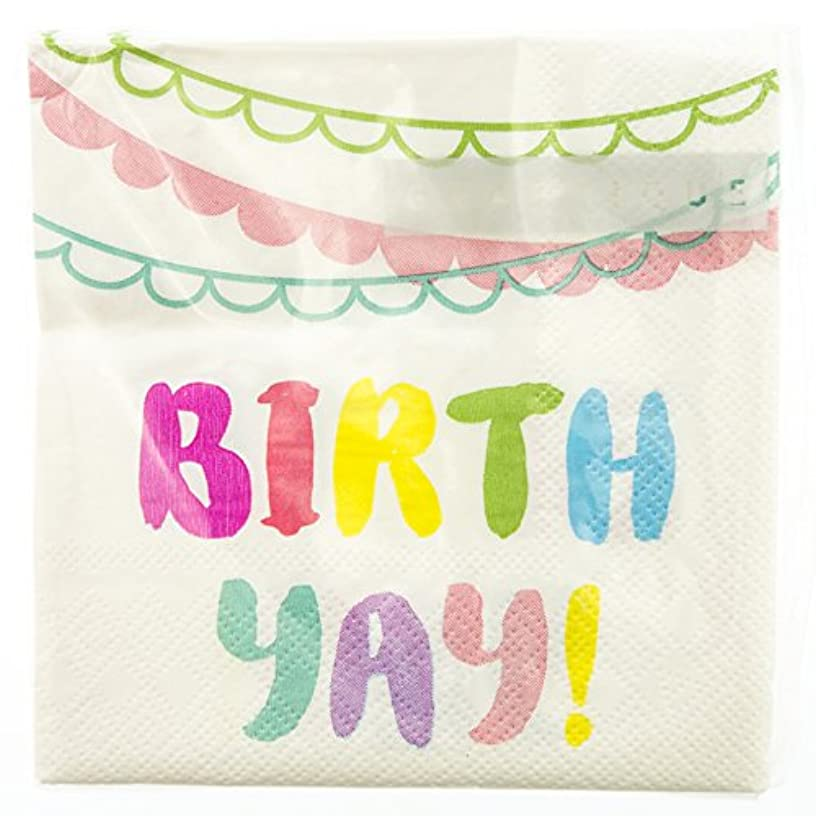 Graphique Neon Birthday Party Napkins - 20 Soft Triple-Ply Tissue Napkins With Colorful