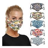 5PCs Fashion Pattern Face Мāsк Cotton Anti-dust Reusable Washable New Design Face Bandanas