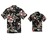 Juego Hawaiano Traje de Luau Camisa de Hombre Camisa de niño en Palma Verde Hombre 3XL Chico...