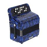 Shanrya Acordeón De Acordeón De Acordeón De Acordeón De Acordeón De 22 Teclas Y 8 Bajos, Instrumento De Lengüeta para Principiantes para Profesionales(Azul Marino)