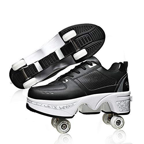 YOUSIOI Patines de Ruedas Zapatos Deformación Zapatos para Caminar automáticos con Ruedas para niñas Niños Patines Patines de Ruedas Zapatos para Deportes al Aire Libre Patines con Ruedas