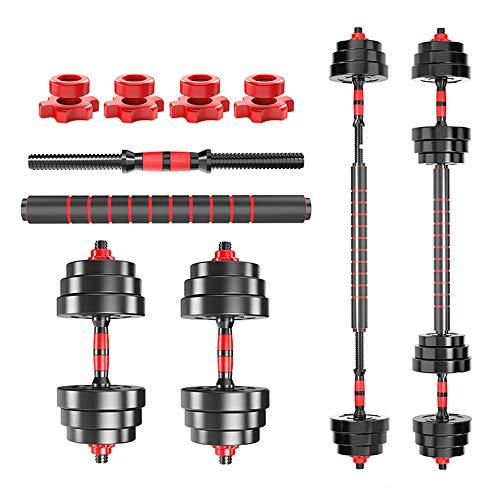 YUPING Kurzhantel-Multifunktions-Fitnessgerät Zwei-in-Eins-Langhantel-Hantelset Mit Einstellbarem Gewicht, Geeignet Zum Trainieren Von Brust- Und Bauchmuskeln(Size:66lb)