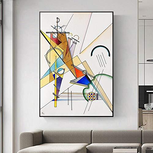 Rompecabezas de Madera 1000pcs_Wassily Kandinsky_Puzzle Juego de descompresión para Jugar con la Familia_50x75cm