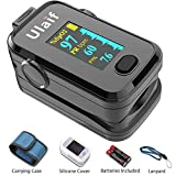 Finger Pulse Oximeter Fingertip with Perfusion Index and Plethysmograph, Portable Blood Oxygen Saturation Monitor for Heart Rate and SpO2 Level, Pulse Ox,Oximetro, O2 Monitor Finger for Oxygen, 310E