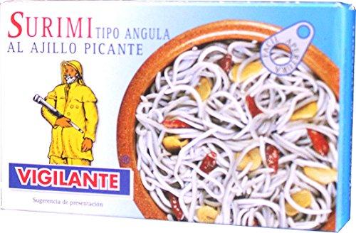 Surimi (Jungaal-Imitat) in scharfer Knoblauchsoße / Surimi al ajillo picante - 110 gr