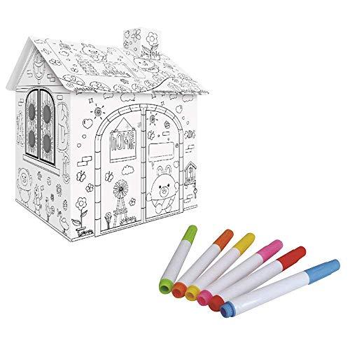 HaiYan Cartone Da Colorare Casetta Da Gioco Da Colorare Doodle Paper Project Toys 27 Pollici Assembla E Dipingi Giocattoli Educativi Per Bambini Alti