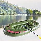 Ecisi Aufblasbare Kajakboote, Dickeres Angeln Touring Wildwasserkajaks für Erwachsene Angeln, 2 Personen Kanu Fischerboot Aufblasbares Bootsset