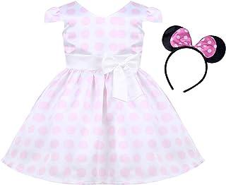 b9243d28731a2 Agoky Robe Vintage Année 50 Pin Up Bébé Enfant Fille Grande Taille Robe à  Pois sans