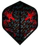 Red Dragon Hardcore 2D Holographic Dragon Extra Thick Standard Dart Flights - 3 Sets Per Pack (9 Dart Flights in Total) Checkout Card