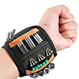 Magnetic Wristband with Strong Magnets, Tool Gifts with 15 Magnets for Holding Screws/Nails/Drill, DIY Tool Belt Tool Carpenter