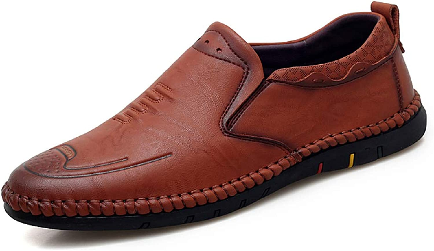 Men's Leather Casual Driving shoes Non-Slip Oxford shoes