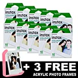 Fujifilm Instax SQUARE - 100 Instant Film + 3cadres en acrylique
