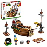 lego super mario il veliero volante di bowser - pack di espansione, mattoncini costruzioni per bambini, dirigibile giocattolo con personaggi, 71391