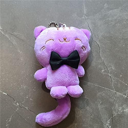 Llavero Lindo de 10 cm de Juguete de Felpa de Gato, Juguete de Peluche Llavero Regalo Colgante