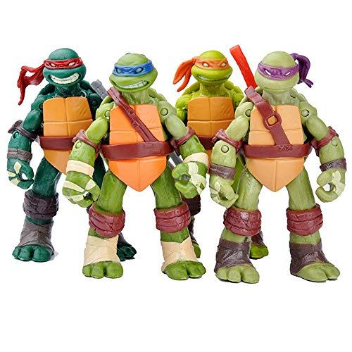 Adolescente Mutante Ninja Turtles Figura Modelo De Juguete Modelo Movible Joint -12CM (Accesorios Completos)