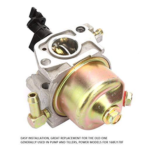 Carburateur, 180 graden rotatie 19 mm Carburateur vervangingsset voor pomp/helmstok 168F/170F, algemeen gebruikt in pomp en frezen