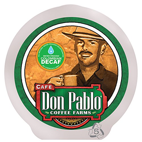 84 ct Don Pablo Colombian Decaf Single Serve Cups - Swiss Water Process Decaf - Medium-Dark Roast - 84 Count box
