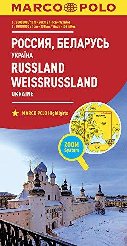 MARCO POLO Länderkarte Russland, Weißrussland 1:2 000 000 + 10 000 000: Ukraine (MARCO POLO Länderkarten)