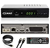 Comag HD45 Digitaler HD Sat Receiver (Full HD, HDTV, DVB-S2, HDMI, SCART, PVR-Ready, USB 2.0) inkl. Kabelset: 1,5 HDMI Kabel + 1,5m SAT Anschlusskabel