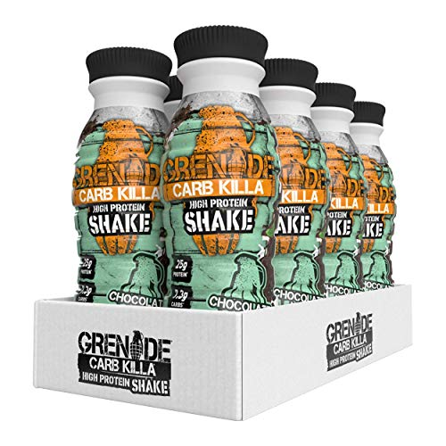 Grenade Carb Killa Chocolate Mint High Protein Shake, 8 x 330 ml