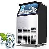 Ice Cube Maker Máquina de hielo comercial de acero inoxidable,...