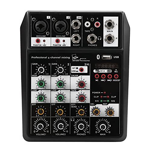 Mezclador De Audio Profesional Mini Placa De Sonido Estéreo De 4 Canales,...