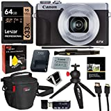 Canon PowerShot G7 X Mark III 20.1MP 4K Digital Camera (Silver) with 4.2X Optical Zoom Lens 24-100mm f/1.8-2.8 Silver 3638C001 with 64GB Memory, Tripod, Camera Bag, HDMI Cable, Cleaning Kit Bundle