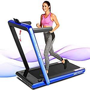 ANCHEER Treadmill, 2 in 1 Folding Treadmill with Remote Control and Bluetooth Speaker, 2.25HP Under Desk Electric…