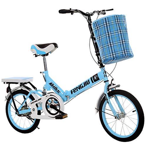 JooGoo Fahrrad aluminiumlegierung Ultraleicht klappfahrrad, 20 Zoll Faltrad Klapprad Faltfahrrad für Herren und Damen mit 6 Gang Shimano Kettenschaltung Folding City Bike Abdeckung