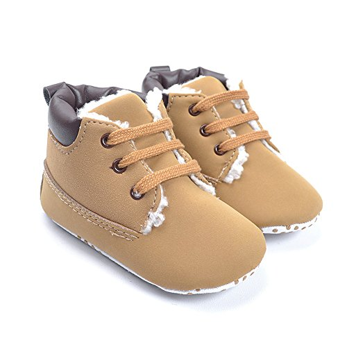 Kuner Baby Boy's Brown Warm Snow Short Boots First Walkers Shoes (11.5 cm (6-12 Months))