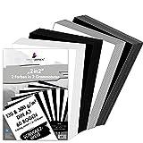 MarpaJansen Paquete de 2 en 2, 60 hojas, 2 colores, 2 gramos, DIN A3, 15 hojas de cartulina fotográfica negro y blanco de 300 g/m² y 15 hojas de papel de dibujo negro y blanco de 130 g/m².