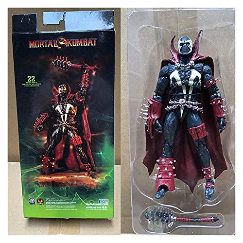 YSVSPRF Figura de acción Mortal Spawn Kombat Figura de acción Muñeca de Juguete Brinquedos figurales Colección Modelo de Regalo 18 cm Modelo de muñeca (Color : No Box)