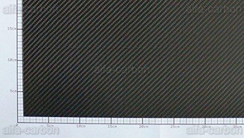Carbon Platte 1,5mm x 600mm x 300mm CFK Platte Kohlefaser seidenmatt