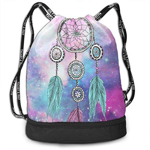 Sporttaschen Turnbeutel Dream Catcher Print Drawstring Bags - Simple Gym Shoulder Bags Fashion