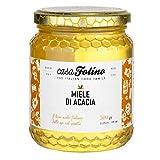 miele di acacia naturale calabrese 500 gr - casafolino - delizioso miele di api uniflorale dal gusto dolce . ideale per dolcificare e fare dolci.