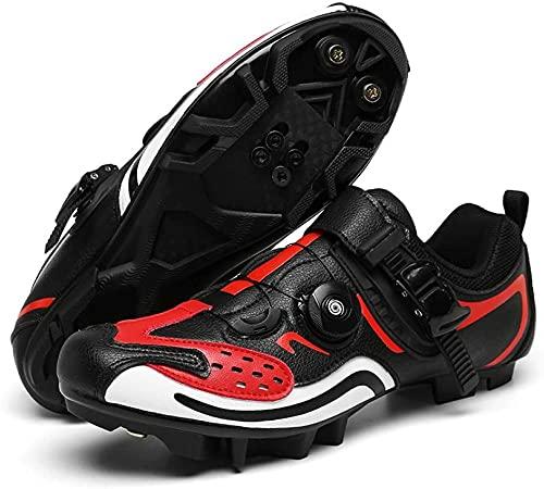 KUXUAN Zapatillas de Ciclismo para Hombre Mujer Ideal para Mountain Cyclo Cross Country XC Bikes In Incluido,B-9UK=(265mm)=43EU