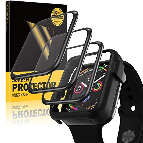 SHINEZONE 3 Stück Schutzfolie kompatibel mit Apple Watch Series 6/5/4/SE 44mm Folie , Adsorption Flexible HD Bildschirmschutzfolie Blasenfreie Clear Anti-Scratch Volle Abdeckung
