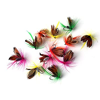 URNINAUEU 12 pcs Butterfly Fishing Flies Hook Dry Fly Lures Barb Single Lead Head Hooks Fans Necessary Jig 2cm Hook Tackle from URNINAUEU