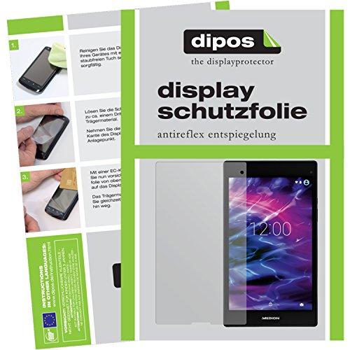 dipos I 2X Schutzfolie matt kompatibel mit Medion LifeTab P8312 / P8314 Folie Bildschirmschutzfolie