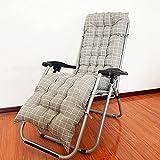 WSVULLD Cojines de tumbonas, almohadillas de silla de sillón de jardín de reemplazo grueso, almohadillas de silla mecedora del algodón 100% PP, almohadilla de asiento de la silla trasera del sofá para