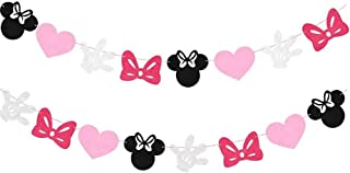Mickey Mouse Birthday Party Banner, Minnie Mouse Garland Themed Party Decoration Supplies Boys Girls Party Favors Party Supplies Baby Shower Decor (Minnie Mouse)