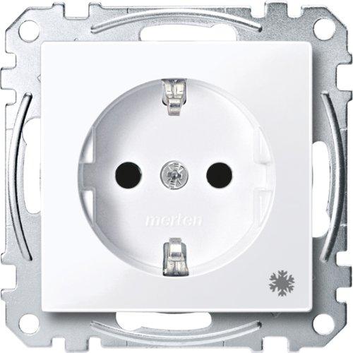 Merten MEG2354-0325 SCHUKO-stopcontact met aanduiding Koelkast, BRS, StK, actief wit glanzend, systeem M
