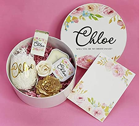 Personalized Gift Box 7 Box Only Custom Bridesmaid Gift Box MOH Gift Box Personalized Bridesmaid Proposal Box Gift Wedding Favor Customized Maid of Honor Gift
