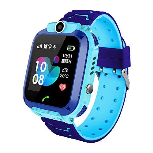 ANYIKE Kids Smartwatch Telefoon Kinderen Smart Horloge met Call Voice Chat SOS Camera Games Alarm Klok, A