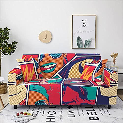 Fundas para Sofa Amarillo Rojo Verde Cubre Sofa Spandex Estampadas Fundas Sofa Elasticas Universal Espesasfunda Sillon Verano Modernas Fundas para Sofa Chaise Longue 4 Plazas